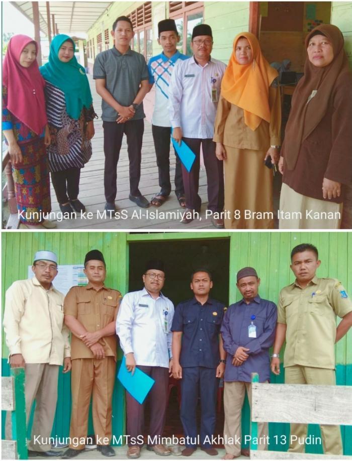 Pengawas Madrasah Tsanawiyah Tanjab Barat Pantau UAMBNBK